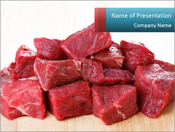Raw beef PowerPoint Templates - Slide 1