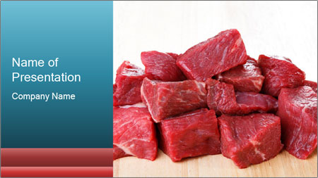 Raw beef PowerPoint Template