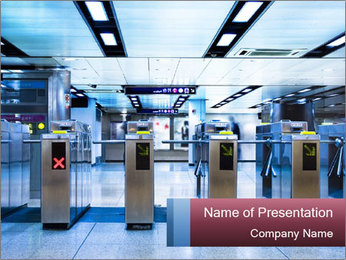 Railway station PowerPoint Template - Slide 1