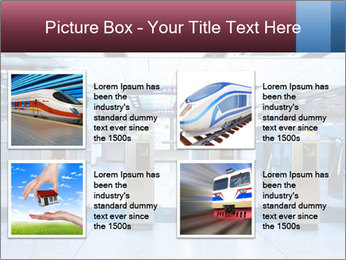 Railway station PowerPoint Template - Slide 14