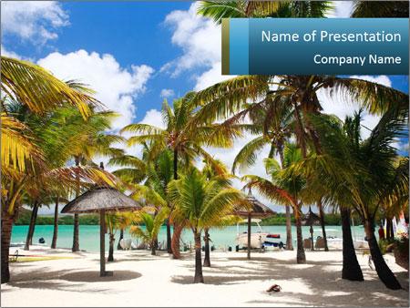Beautiful tropical beach PowerPoint Template