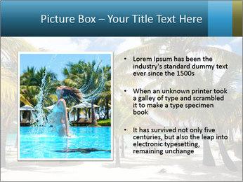 Beautiful tropical beach PowerPoint Template - Slide 13