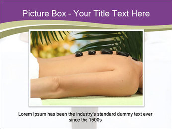 Woman on spa bed PowerPoint Template - Slide 16