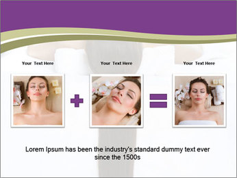 Woman on spa bed PowerPoint Template - Slide 22