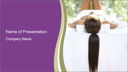 Woman on spa bed PowerPoint Template