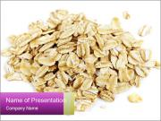 Heap of dry rolled oats PowerPoint Template