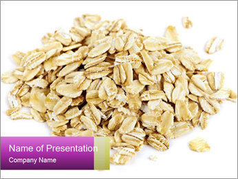 Heap of dry rolled oats PowerPoint Template - Slide 1