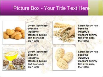Heap of dry rolled oats PowerPoint Template - Slide 14