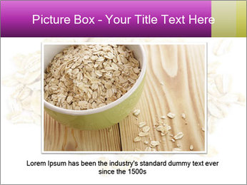 Heap of dry rolled oats PowerPoint Template - Slide 15