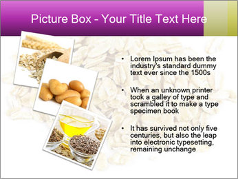 Heap of dry rolled oats PowerPoint Template - Slide 17
