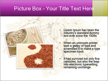 Heap of dry rolled oats PowerPoint Template - Slide 20