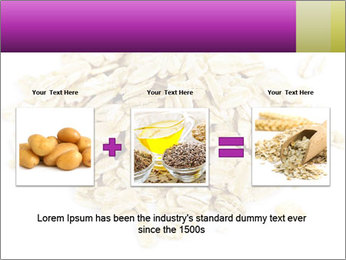 Heap of dry rolled oats PowerPoint Template - Slide 22