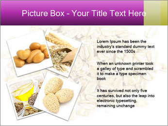 Heap of dry rolled oats PowerPoint Template - Slide 23