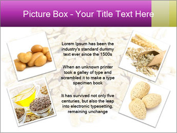 Heap of dry rolled oats PowerPoint Template - Slide 24