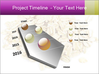 Heap of dry rolled oats PowerPoint Template - Slide 26