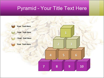 Heap of dry rolled oats PowerPoint Template - Slide 31