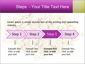Heap of dry rolled oats PowerPoint Template - Slide 4