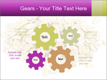 Heap of dry rolled oats PowerPoint Template - Slide 47