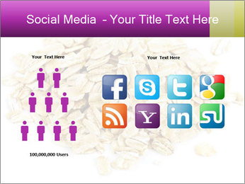 Heap of dry rolled oats PowerPoint Template - Slide 5