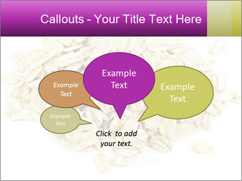Heap of dry rolled oats PowerPoint Template - Slide 73