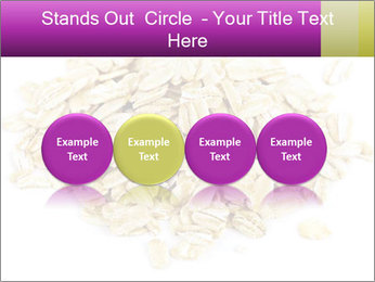 Heap of dry rolled oats PowerPoint Template - Slide 76