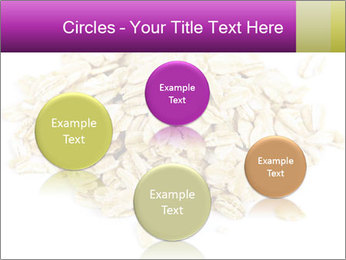 Heap of dry rolled oats PowerPoint Template - Slide 77