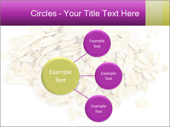 Heap of dry rolled oats PowerPoint Template - Slide 79