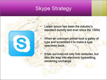 Heap of dry rolled oats PowerPoint Template - Slide 8