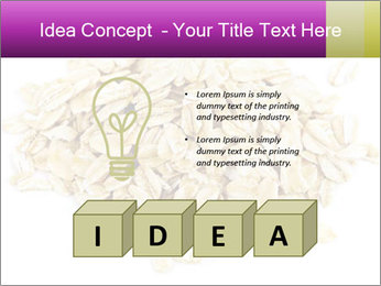 Heap of dry rolled oats PowerPoint Template - Slide 80
