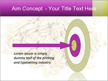 Heap of dry rolled oats PowerPoint Template - Slide 83