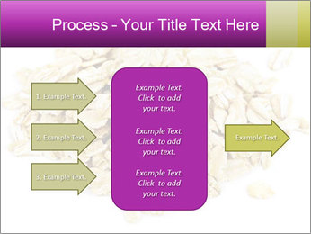 Heap of dry rolled oats PowerPoint Template - Slide 85