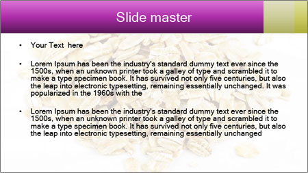 Heap of dry rolled oats PowerPoint Template - Slide 2