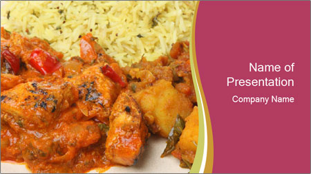 Indian chicken PowerPoint Template
