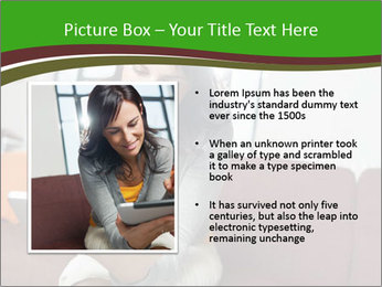 Woman sitting on sofa PowerPoint Template - Slide 13