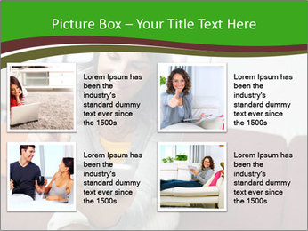 Woman sitting on sofa PowerPoint Template - Slide 14