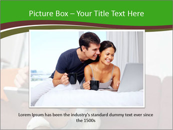 Woman sitting on sofa PowerPoint Template - Slide 15