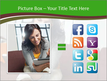 Woman sitting on sofa PowerPoint Template - Slide 21