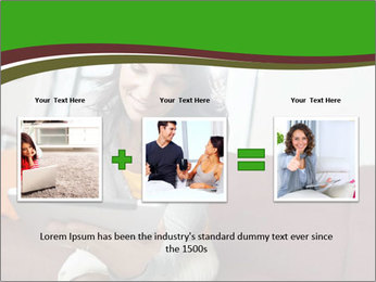 Woman sitting on sofa PowerPoint Template - Slide 22