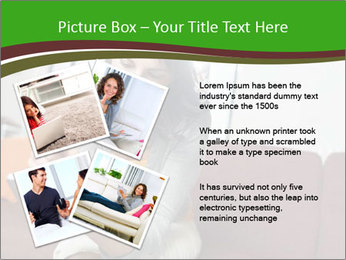 Woman sitting on sofa PowerPoint Template - Slide 23