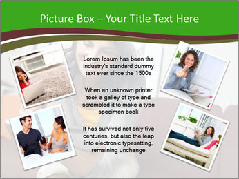 Woman sitting on sofa PowerPoint Template - Slide 24
