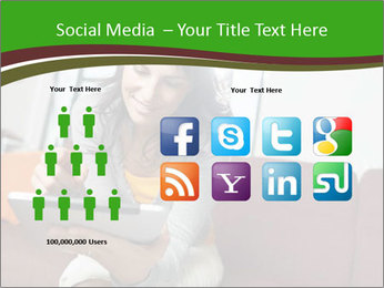 Woman sitting on sofa PowerPoint Template - Slide 5