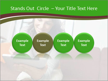 Woman sitting on sofa PowerPoint Template - Slide 76