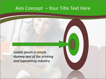 Woman sitting on sofa PowerPoint Template - Slide 83