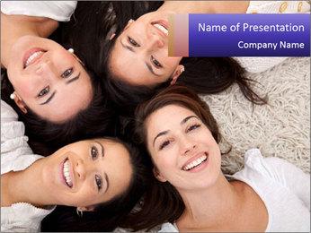 Group of women lying PowerPoint Template - Slide 1