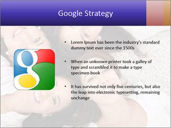 Group of women lying PowerPoint Template - Slide 10