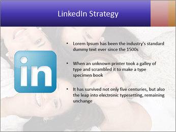 Group of women lying PowerPoint Template - Slide 12