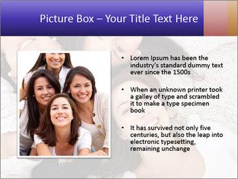 Group of women lying PowerPoint Template - Slide 13