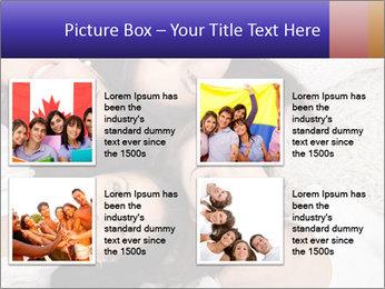 Group of women lying PowerPoint Template - Slide 14