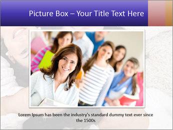 Group of women lying PowerPoint Template - Slide 15