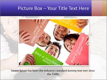 Group of women lying PowerPoint Template - Slide 16